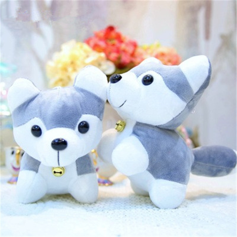 28cm Husky Stuffed Animals Plush  Boys Girls  Party Gifts Free Shipping Wholesale K0344