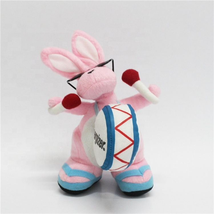 High Quality Plush Dolls Soft Kids Toy Pink Bunny Stuffed Animal