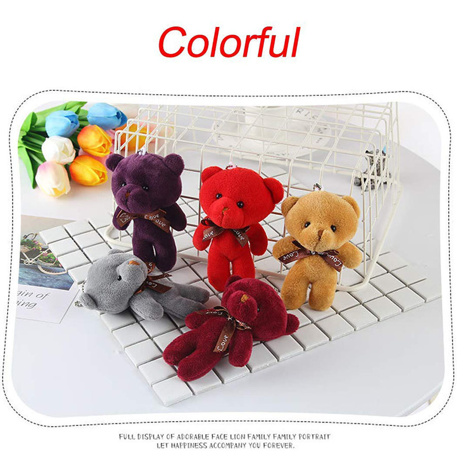 Small Eye Catching Plush Teddy Bears   Soft Toy  Packed Assorted Colors Wholesale Plush Bear