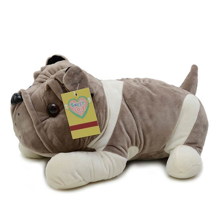 Soft Plush Toys Dog Shape Soft Throw Pillow