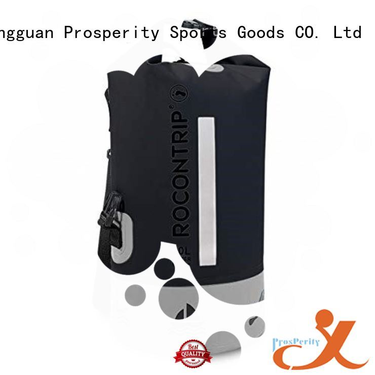 polyester dry bag with strap with adjustable shoulder strap for boating