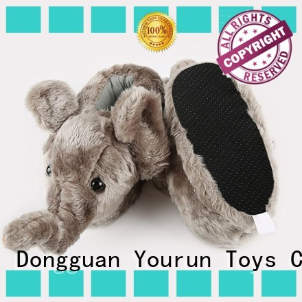 YouRun high end plush slippers factory for men