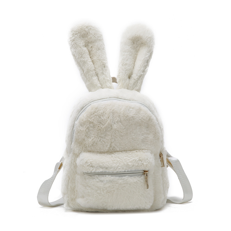 Stuffed Hello Kitty Doll Rabbit Ears Cartoon Backpack