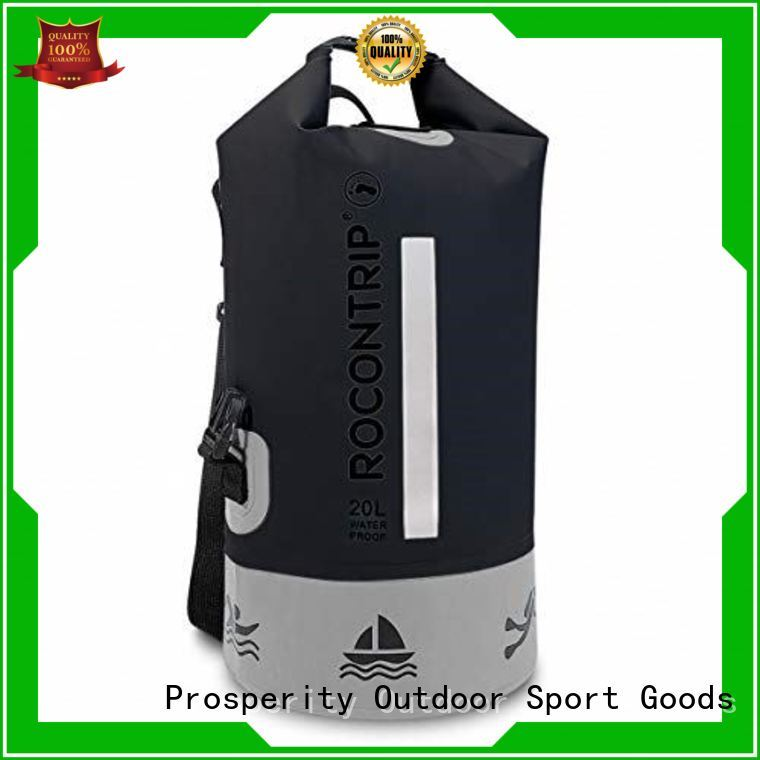 Prosperity dry pack bag with innovative transparent window design open water swim buoy flotation device