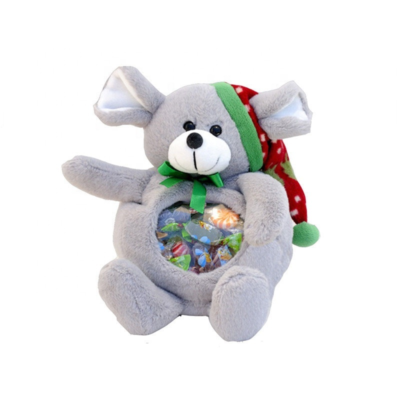 Custom Cuddly Teddy Bear Shaped Candy Bag for Festival Gifts