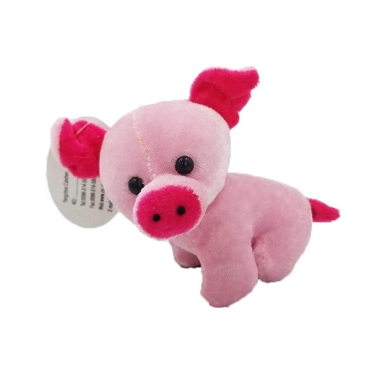 Custom Soft Plush Toys Keychain Pink Pig