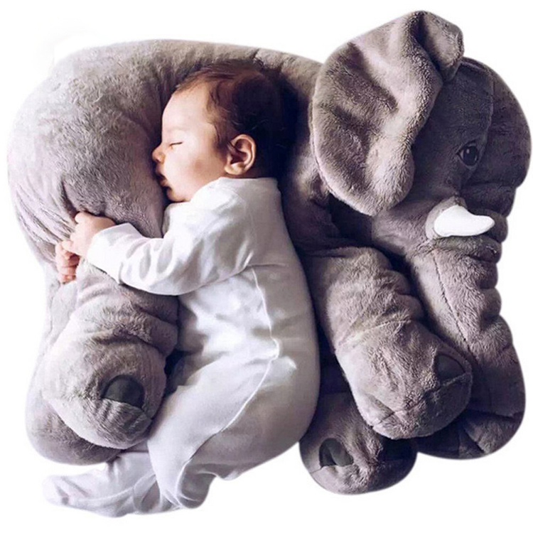 Plush  Toys Grey And Colorful Elephant Pillow Toy